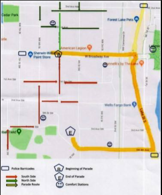 2018 Parade Route Update